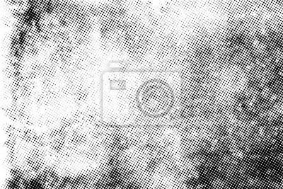 Obraz Subtle halftone vector texture overlay. Monochrome abstract splattered background.