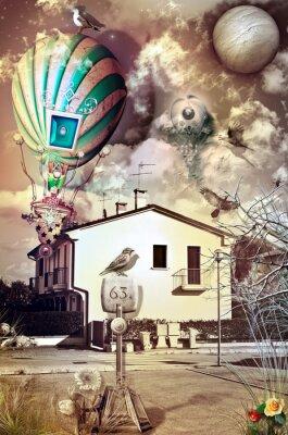 Obraz Suburban fantasy z balonu pożaru