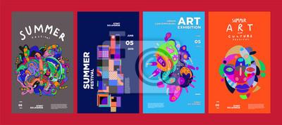 Obraz Summer Festival Art and Culture Colorful Illustration Poster. Illustration for Summer, event, website, landing page, promotion, flyer, digital and print.