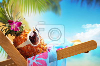 Obraz summer vacation on beach