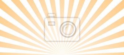 Obraz Sun ray retro background vector burst light. Sunrise or sunset retro design