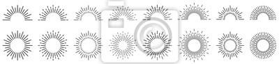 Obraz Sunburst line illustration. Sunrise. Vector illustration