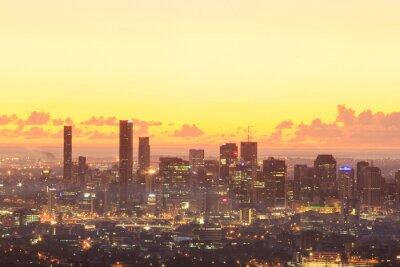 Obraz Sunrise Widok z Brisbane z Góry Łyska-tha. Queensland, Australia.