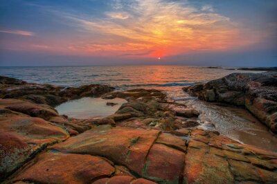 Sunset at the beach of Khao Lak. Thailand