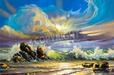 Obraz Sunset on seacoast