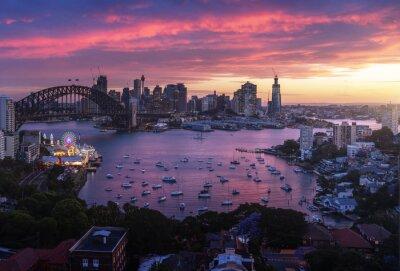 sunset,  Sydney harbor, New South Wales, Australia