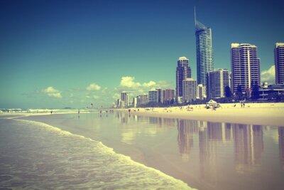 Obraz Surfers Paradise, Australia. Krzyż przetworzonych filtrowany dźwięk.