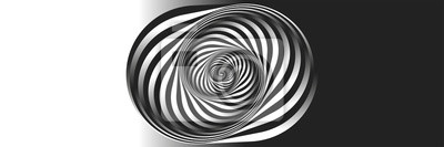 Obraz Surrealism. Psychology and philosophy, a sample for printing. Black and white fractal background. Escher style. Images in the style of optical visual illusions - pop art.