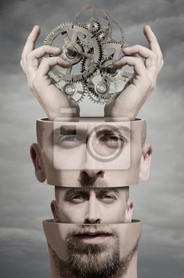 Obraz Surrealistyczny portret człowieka