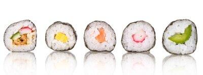 Obraz Sushi sztuk kolekcja, na białym tle
