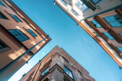 Obraz Sweden, Stockholm, Gamla Stan, Narrow alleys with historic houses