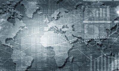 Obraz Świat połączenie map