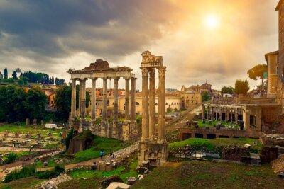 Obraz Świątynia Saturna i Forum Romanum w Rzymie, Włochy