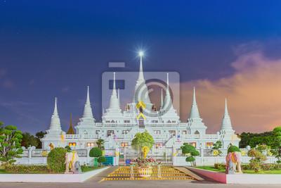 Świątynia Wat asokaram Samut Prakan w Tajlandii
