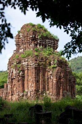 Obraz Świątynie Chams, Terre Sainte de My Son, Wietnam