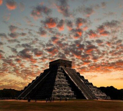 Obraz Świątynie świątyni w Chichen Itza w Meksyku