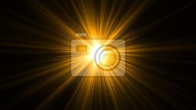 Obraz świecące, abstrakcyjne promienie słońca z cyfrowym obiektywem pochodni. Dostosuj kolor promieni świetlnych za pomocą warstwy dopasowania, np. Gradientowy kolor selektywny, i wygeneruj światło słoneczn