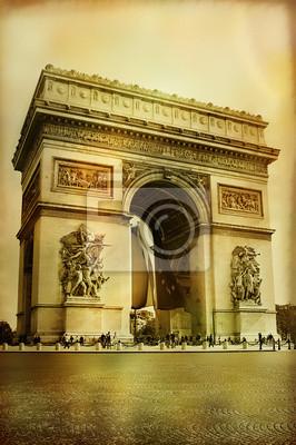 Świetna architektura - Arc-de-triumph - styl artystyczny obraz