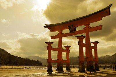 Obraz Świetne Torii w Miyajima