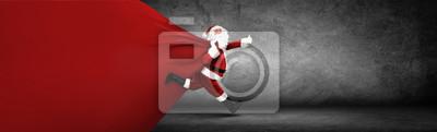Obraz Święty Mikołaj z torbą pełną prezentów!