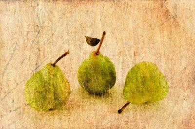 Obraz Świeże jabłka i gruszki w stylu grunge i retro.