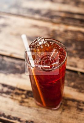 Świeże zimna herbata z wapna