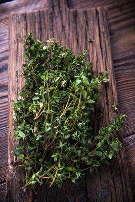 Obraz Świeżego tymianku aromatyczne z ogrodu