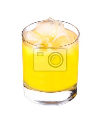 świeżo wyciśnięty sok pomarańczowy - pojedyncze