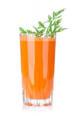 Obraz Świeży sok z marchwi warzyw