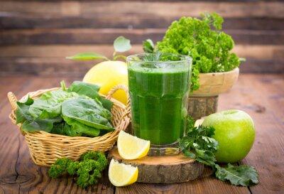 Obraz Świeży zielony koktajl w szklance