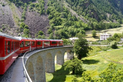 Obraz Swiss mountain pociąg Bernina Express