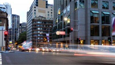 Obraz Sydney City szlaków sygnalizacji świetlnej