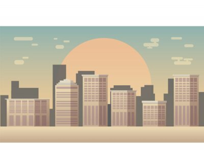 Sylwetka panoramę miasta wektor