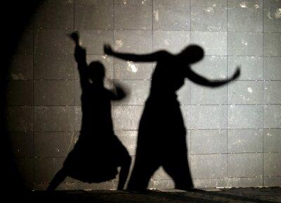 Obraz sylwetka taniec para
