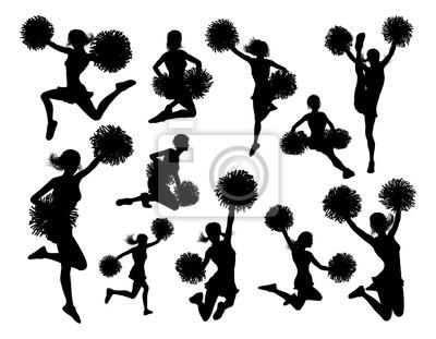 Obraz Sylwetki cheerleaderki