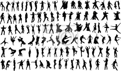 Obraz Sylwetki ludzi tańczących