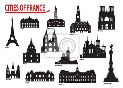 Sylwetki miast w Francji