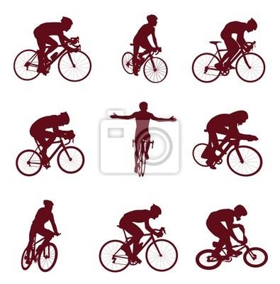 Sylwetki na rowerze