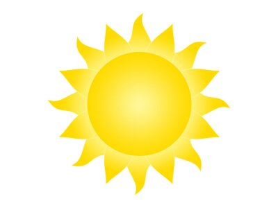 Obraz Symbol słońce na białym tle