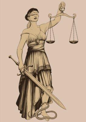 Obraz Symbol sprawiedliwości Femida