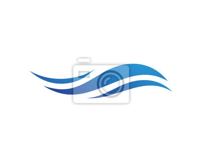 Obraz Symbol Wave Woda i ikona Szablon wektor logo