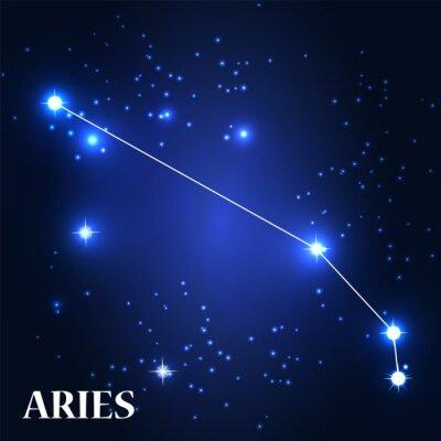 Obraz Symbol. Znak zodiaku Baran. Ilustracja wektora.