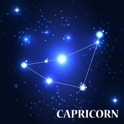 Obraz Symbol. Znak zodiaku Koziorożec. Ilustracja wektora.