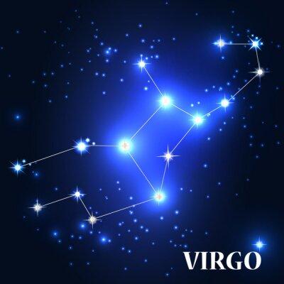Obraz Symbol. Znak zodiaku Panna. Ilustracja wektora.