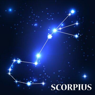Obraz Symbol. Znak zodiaku Scorpius. Ilustracja wektora.