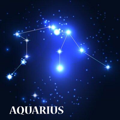 Obraz Symbol. Znak zodiaku Wodnik. Ilustracja wektora.