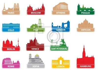 Symbole europejskie miasto