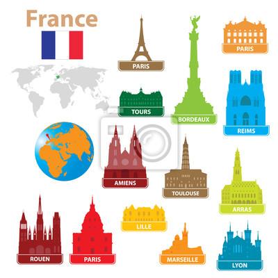 Symbole miasta do Francji