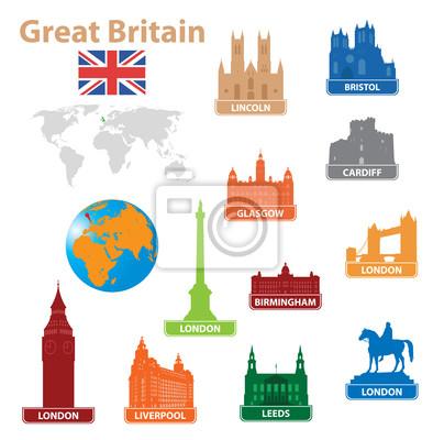 Symbole miasta do Wielkiej Brytanii