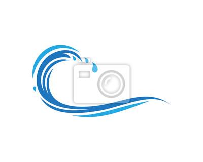 Obraz Szablon logo fala wody